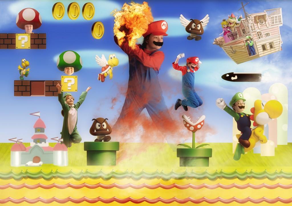 Asher as Mario