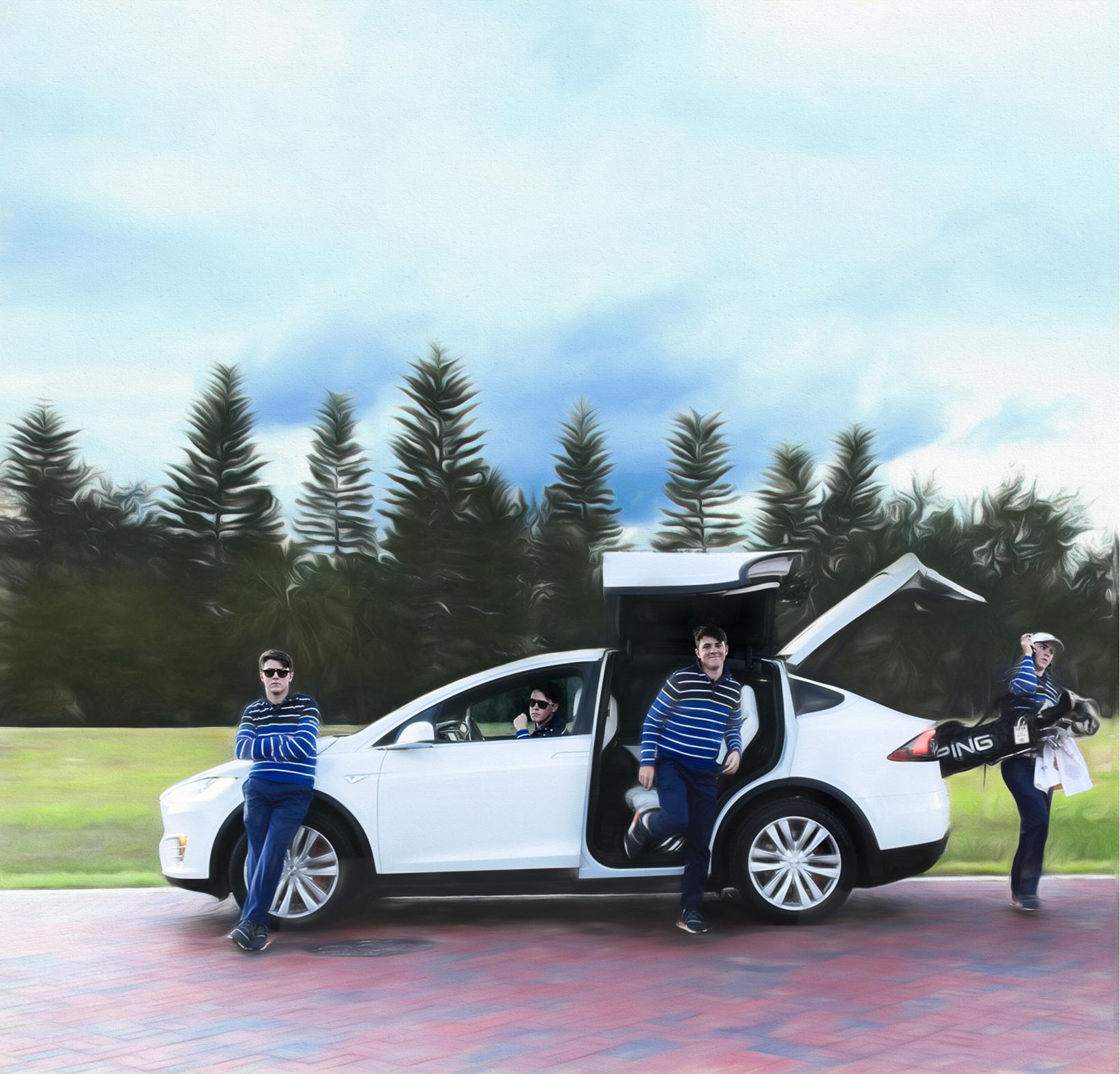Clay & the Tesla